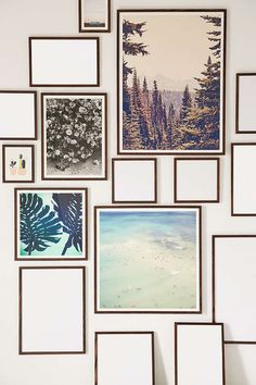 Urban Outfitters Walnut Wood Art Print Frame