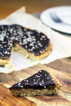 NUTTY CHOCOLATE CARAMEL TART (GF)