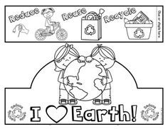 Earth Day Activities (Take Home Packet Kindergarten) Distance Learning Preschool Curriculum, Preschool Activities, Kindergarten, Earth Day Projects, Earth Day Crafts, Earth Day Coloring Pages, Community Helpers Preschool, Crown Crafts, Earth Day Activities