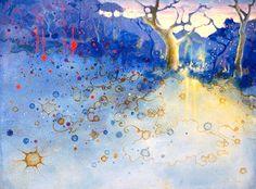 Francesco Villicich  Bush 1, 2011  oil on paper  55 x 75cm