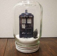 TARDIS in the Snow | 12 DIY Decorations For A Geektastic Holiday
