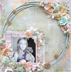 This layout was made for Blue Fern Studios Blue Fern Products Used: Love Story Collection - The Grand Ball, True Harmony, and Calling Cards Chipboard - Beade...
