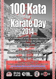 The Worldwide 100 Kata Demonstration for Okinawa Karate Day 2014 (Oct 25) A Challenge Okinawa! and DOJO Bar sponsored event The Worldwide 100 Kata -