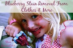 Several proven home remedies and tips for how to remove blueberry stains from clothes {on Stain Removal 101}