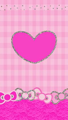 PINK HEART AND BOWS IPHONE WALLPAPER BACKGROUND