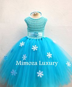 Elsa Deluxe Princess dress turquoise tutu dress frozen
