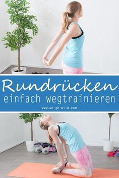 17 Übungen gegen Rundrücken - effektives Hyperkyphose Workout Do you have enough of your round back? Then start with exercises against hunchbacks! A hunchback is not nice and comes from sitting too lo Planet Fitness Workout, Fitness Workouts, Fitness Herausforderungen, Fun Workouts, At Home Workouts, Health Fitness, Mens Fitness, Ladies Fitness, Do Exercise