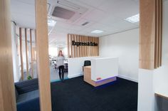 Amarelle Office Interiors // Exeter – Express & Echo   #reception #officedesign #workplace