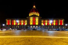SF City Hall with the 49ers Colors, San Francisco, CA