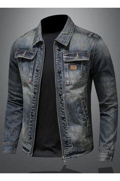 Denim Shirt Men, Denim Jacket Men, Cool Jackets For Men, Best Smart Casual Outfits, Dress Sewing, Man Style, Denim Fashion, Cloths, Menswear