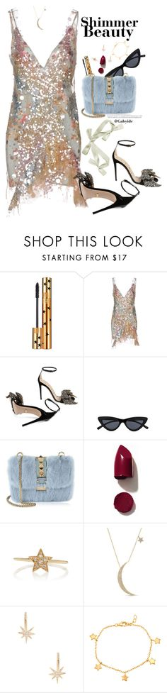 """""""Stardust"""" by gabyidc ❤ liked on Polyvore featuring Yves Saint Laurent, Amen, Gucci, Valentino, NARS Cosmetics, Sydney Evan, Anne Sisteron, Shashi, Mia Sarine and valentino"""