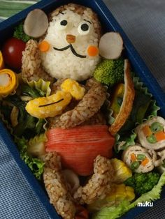 Monkey bento lunch for kids :)