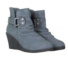Grey Faux Suede Wedge Ankle Boots Wedge Ankle Boots, Footwear, Wedges, Grey, Shopping, Collection, Shoes, Women, Fashion