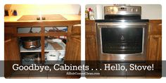 """It's Never That Simple"" – Kitchen Remodeling Cleanup-Clearing Out the Cabinets for the New Stove"