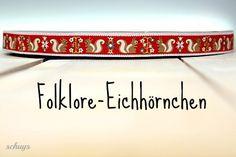 """Webband """" Folklore-Eichhörnchen """" 1 m von schuys auf DaWanda.com"""