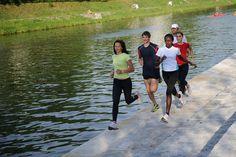 4 Ways to Burn More Calories When You Run: Run outside.