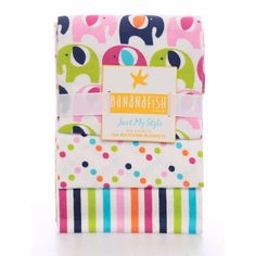back up Bananafish Studio Receiving Blanket, 3-Pack, Pink/Navy