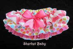Hot Pink Chevron with Ditty Dots Sassy Pants by Sherbet Baby www.sherbetbaby.etsy.com