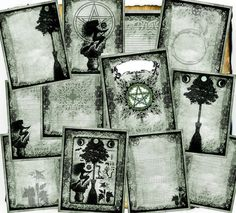 Digital BoS Pages - Green Hedge Witch - 12 original spell pages to download via Etsy
