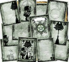 Digitaler BoS-Seiten - Green Hedge Hexe - 12 original-Zauber-Seiten zum download
