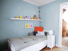 Peinture : 15 idées sympa pour la chambre de vos enfants. Ici un enduit décoratif  - #Technitoit