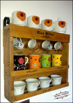 Cantinho do Chá Feito com reciclagem de caixote de uva