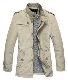 WantDo Men's Fashion Cotton Jacket Waterproof Coat for Slim Person