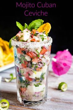 Nadire Atas On The Real Mojito Mojito {inspired} Cuban Ceviche Fish Recipes, Seafood Recipes, Mexican Food Recipes, Appetizer Recipes, Cooking Recipes, Cuban Appetizers, Cooking Tips, Mexican Desserts, Freezer Recipes