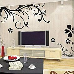 ELove Enjoy Life Passion Tree Leaves Flowers Simple Vine Removable Mural Wall Stickers Wall Decal for Home Decor >>> Learn more by visiting the image link. (This is an Amazon Affiliate link and I receive a commission for the sales)