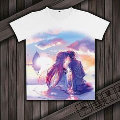 Japan Anime Sword Art Online Cosplay Short-Sleeved Fashion Tee Tops DIY T-shirt | eBay