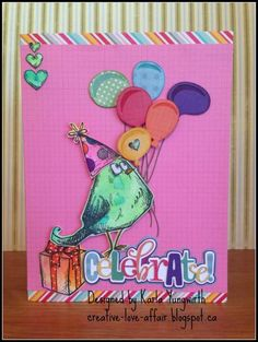 Celebrate with Crazy Birds! by karla1229 - Cards and Paper Crafts at Splitcoaststampers