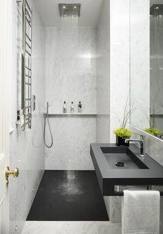 Grâce au DECOllectif j'ai eu l'occasion de mettre le quotidien entre parenthèse et me demander ce que je m'offrirais si j'étais riche... Il y a pas mal de choses et ma liste est variée. Découvrez sans attendre ce dont je rêve en ce moment. C'est sur le blog! Modern Shower, Modern Bathroom, Bathroom Ideas, Shower Ideas, Bathroom Black, Budget Bathroom, Bathroom Marble, Bathroom Organization, Bathroom Storage