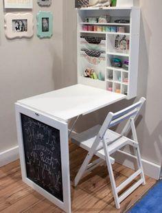 Consider fold-away furniture.
