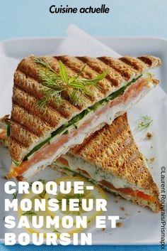 Croque-monsieur with salmon and Boursin - Croque monsieur - Easy Salad Recipes Salad Recipes Healthy Lunch, Easy Salads, Healthy Salad Recipes, Easy Meals, Boursin Recipes, Sandwiches, Food Porn, Special Recipes, Brunch Recipes