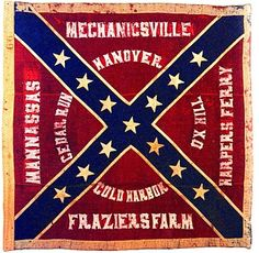 "American Civil War flag This flag is a true veteran of the Battle of Gettysburg. It was captured by Union troops on July 3 during ""Pickett's Charge"". Today it resides in the Museum of the Confederacy in Richmond, Virginia. (photo courtesy of Museum of the Confederacy)"