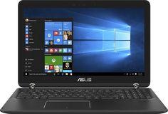 "Asus - Q524UQ-BHI7T15 2-in-1 15.6"" Touch-Screen Laptop - Intel Core i7-7500U - 12GB Memory - NVIDIA GeForce 940MX - 2TB Hard Drive - Sandblasted black aluminum with gunmetal hinge - laptopsandaccessories"