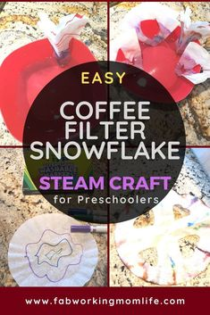 Coffee Filter Snowflake STEAM Activity, perfect for fans of Frozen II - Fab Work. Coffee Filter Snowflake STEAM Activity, perfect for fans of Frozen II – Fab Working Mom Life Mak Educational Activities For Preschoolers, Fun Activities For Toddlers, Steam Activities, Baby Activities, Learning Activities, How To Make Coffee, Making Coffee, Toddler Crafts, Preschool Crafts