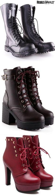 Shop punk spring boots at RebelsMarket