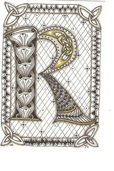 zentangle r | Zentangle R - 7.29.11 | Flickr - Photo Sharing!