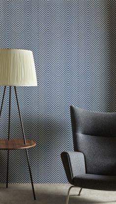 Stunning chevron wallpaper design by Barneby Gates.