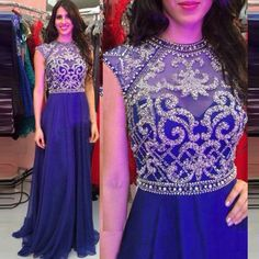 Find More Prom Dresses Information about Royal Blue Chiffon Long Prom Dress Open Back Sleeveless Beading Vestidos De Formatura Long Graduation Dresses Long party dress,High Quality prom dresses,China long prom dresses Suppliers, Cheap prom dress open back from Loveperfect on Aliexpress.com
