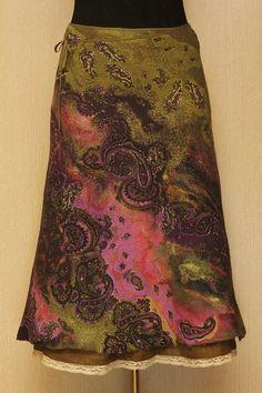 Time of Gypsies / Felted Clothing / Skirt by LybaV on Etsy, $300.00