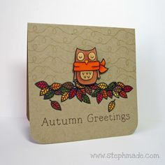 Winter Owl from Lawn Fawn—Fall Owl!  Cute!