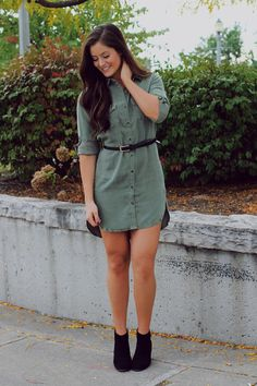 Olive Button Up Shirtdress – UOIOnline.com: Women's Clothing Boutique