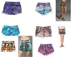 ShopStyle: Tie Dyed Shorts by Calamitycliche