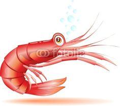 #Shrimp #Crayfish #Cartoon-#Vector © #Bluedarkat - on #Fotolia! Funny Fish, Fishing Humor, Ocean Art, New Shop, Tigger, Shrimp, Seafood, Disney Characters, Fictional Characters