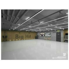 Concept photos of Big Hit Entertainment's new studio in Gangnam have been revealed, and it looks f. Living Room Entertainment Center, Entertainment Center Decor, Kpop Entertainment, Dance Studio Design, Dance Rooms, Office Wallpaper, World 2020, News Studio, Studio Ideas