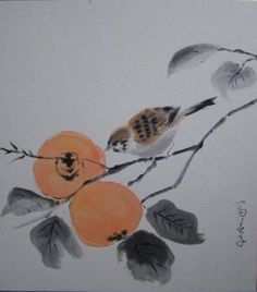 Sumi-e Japanese Ink Painting, Sumi E Painting, Japan Painting, Japanese Drawings, Japanese Artists, Chinese Painting, Chinese Art, Watercolor Paintings, Ink Paintings