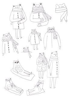 bears with scarves