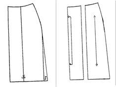Falda de tres piezas